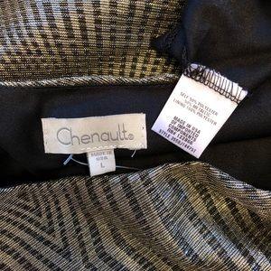 Chenault Tops - Sexy Metallic Top